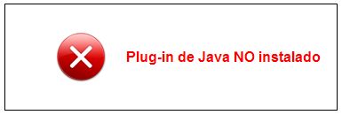 Plug-in de Java no instalado