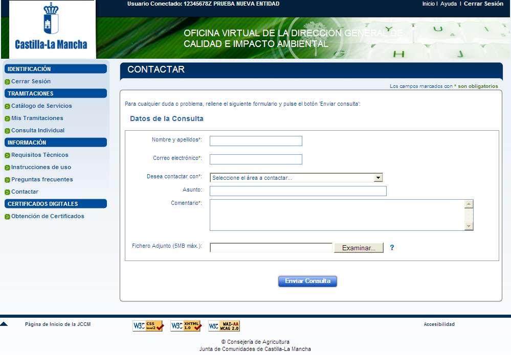 Instrucciones de uso ficina virtual consejeria de for Oficina virtual jccm